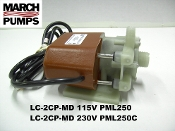 March LC-2CP-MD 115v & 230v Submersible Marine AC pump & parts