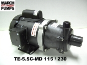 March  TE-5.5C-MD 115/230v  Marine air conditioner pump & parts